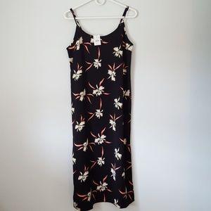 JCREW Printed Mid-Length Slip Dress with Side Slit